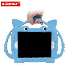 For ipad mini 1 2 3 4 5 case Non-toxic soft silicone hand-held tablet case for Kids full body cover for ipad min 5 case kids cover for ipad mini 5 case non toxic eva shockproof washable stand hand holder case for ipad mini 1 2 3 4 5 7 9 inch