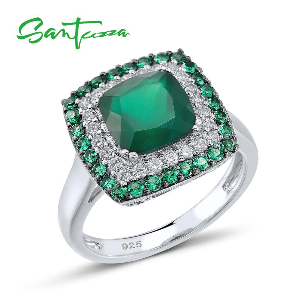 SANTUZZA Stříbrný prsten pro ženy 925 Sterling Stříbrné Módní Prsteny pro Ženy 2017 Kubický Zirconia Ringen Party Šperky