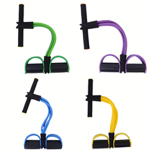 4 Pipe Quality Pedal Exerciser Fitness Body Building Resistance Bands Women Portable Home Sport Equipment For Sit Up Exercises