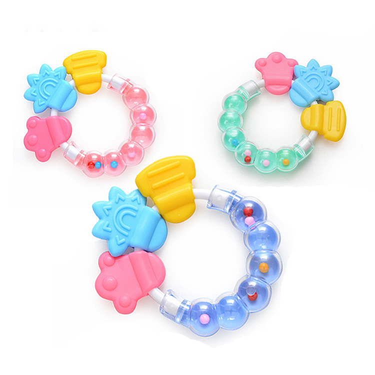 Baby Rattles BPA Free Silicone Teether Bracelet for Chewing Teething Toys for Newborns Infant Boys Girls babies 24 months