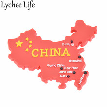 China Flag Map Refrigerator Magnetic Sticker Chinese Style Fridge Magnet Souvenir Gifts Modern Home Kitchen Decor