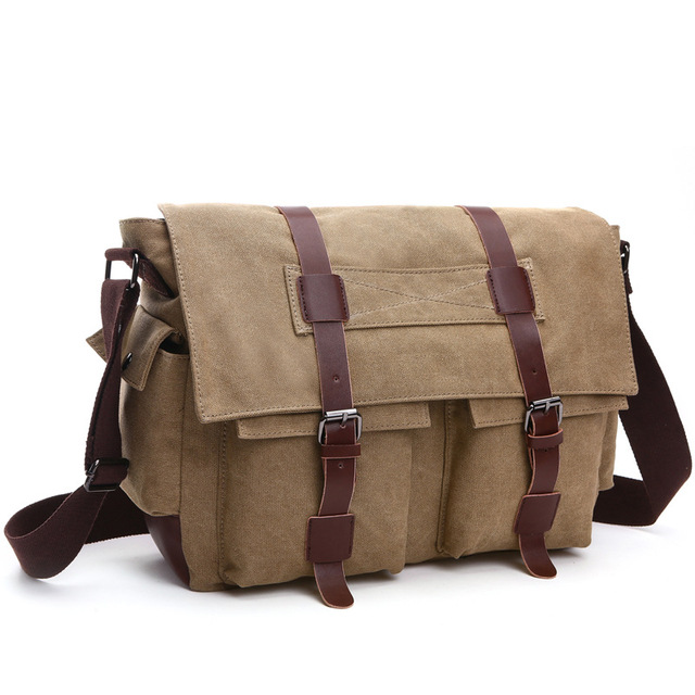 86bd3fbbbf4d 2017 New Arrival Men s Crossbody Bag Vintage Military Men Canvas Messenger  Bag Teenager College School Travel