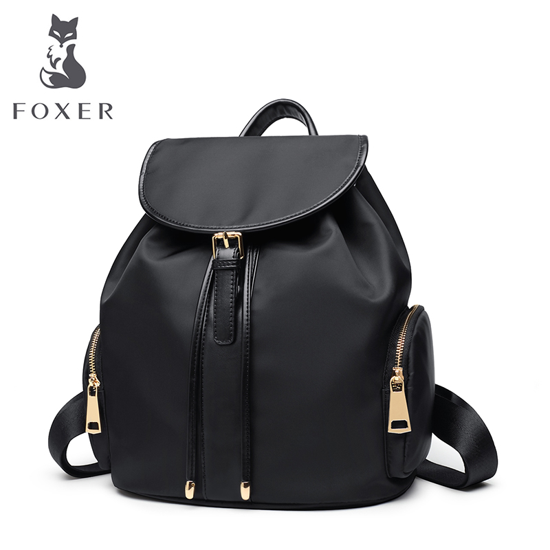 FOXER Brand Women Backpack Oxford Cloth Bag for Teenage Girls Women's New Fashion Waterproof Light Travel Bag High Quality Bags women bag 2016 new foxer brand women genuine leather backpack fashion quality women cowhide leisure wild student backpack