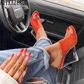 AIYKAZYSDL/женские прозрачные сандалии на танкетке; неоновые  зеленые  оранжевые римские сандалии-гладиаторы с принтом змеи; шлепанцы-шлепанцы