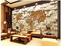 Customized 3d Photo Wallpaper 3d Wall Murals Wallpaper English Alphabet Map Background Wall Brick Wall 3d