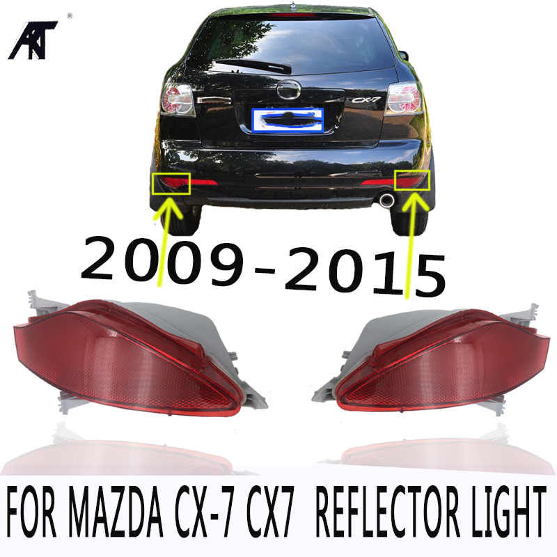 Fog lamp Car Tail Bumper Reflector Light For Mazda CX7 CX-7 2009-2015 Rear Fog Lamp Accessories