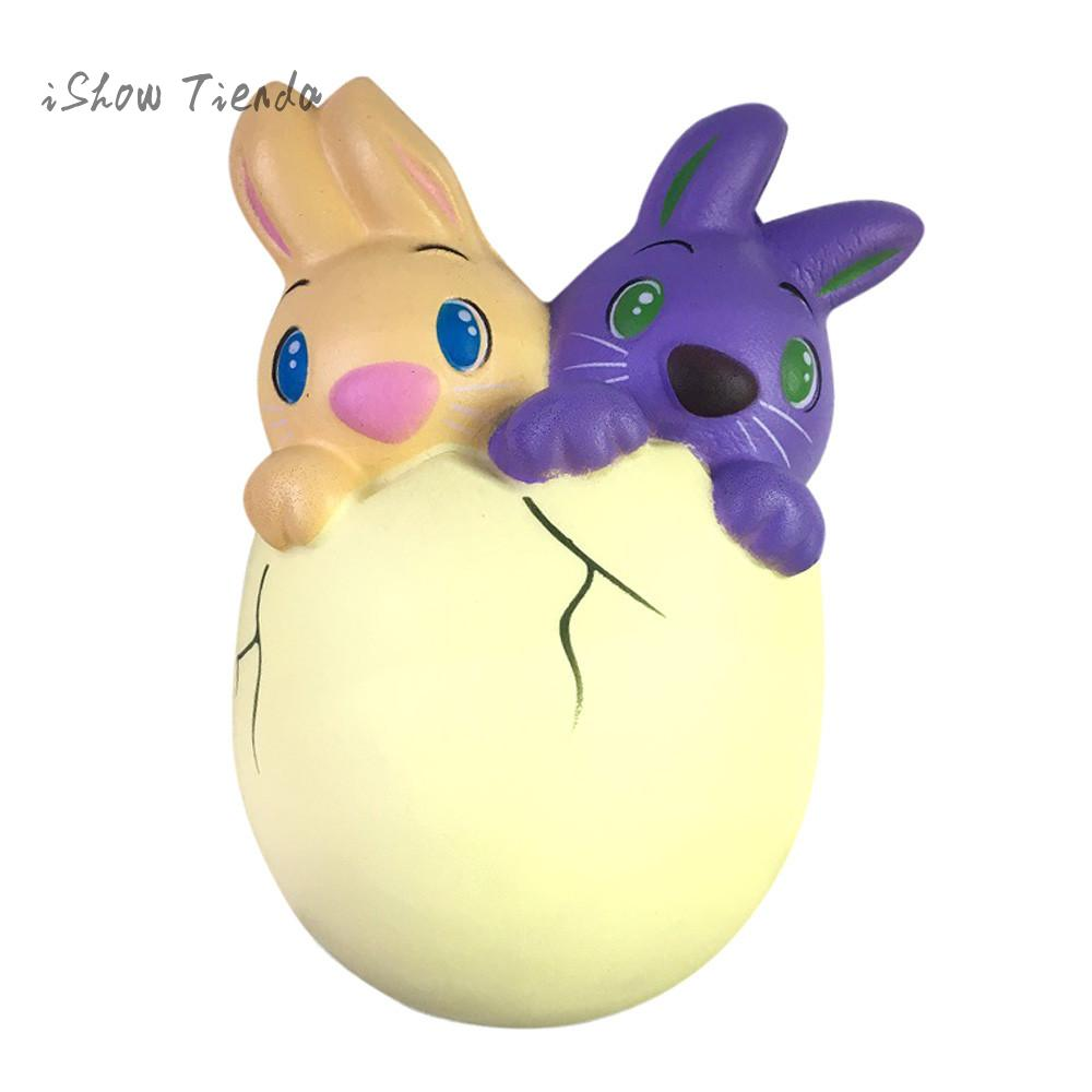 15cm mochi Squishy Junbo Easter Bunny Egg Scented Slow Rising Squeeze toy Collect Easter Gift kids Antistress Toys funny prank