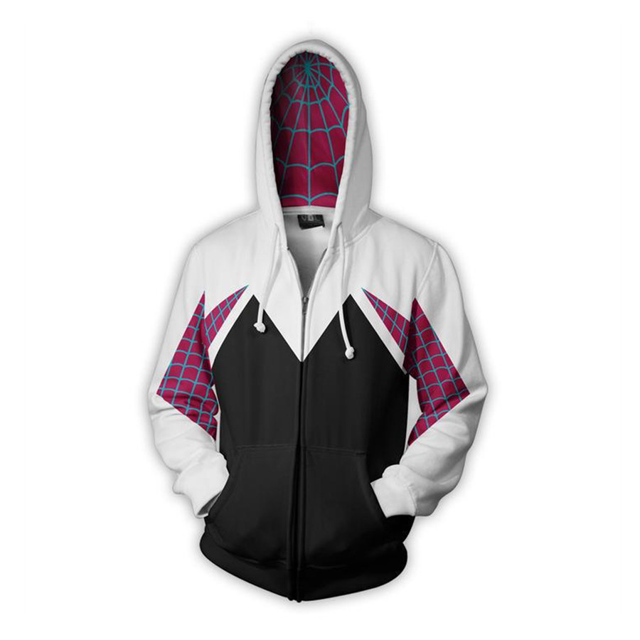 Movie Gwen Stacy Spider Gwen Sweatshirt Hoodie Cosplay Costume Anime Hoodie Jacket Coats Men Women New in Movie TV costumes from Novelty Special Use
