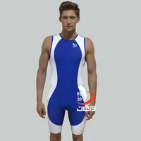 Sublimation Custom Triathlon Cycling One Piece Suit Tri Suit Triathlon Wetsuit Running With Pads For Sports