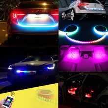 LED RGB Controller For Car Turn Tail Tailgate Streamer Warning Strip Light Bluetooth RF Remote With Decoder