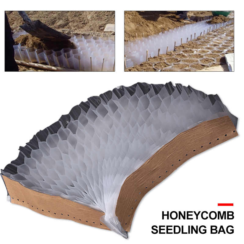 Vegetable Bag Honeycomb Seedling Planter Container Economic PP Seedling Bag Convenient Seeding Accessories Nursery Bags