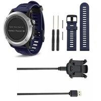 Yedek dock şarj beşiği masaüstü güç şarj adaptörü smartband bilek bandı için garmin fenix 3 İk smart watch