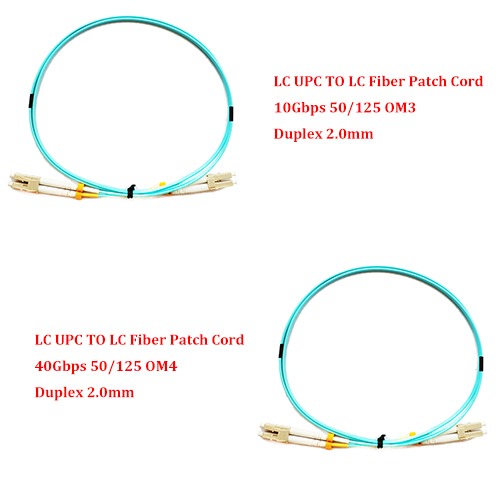 10 Pieces 5 0 Meter LC UPC TO LC UPC 10Gbps OM3 40Gbps OM4 MM 50
