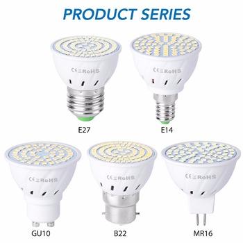 Żarówka wymienna LED reflektor dioda światło punktowe 220 V E27 MR16 B22 5 W 7 W 9W tanie i dobre opinie WENNI CN (pochodzenie) Natura biały (3500-5500 k) 2835SMD LED Spotlight Bulb Bedroom 220V 500-999 Lumenów Globe 50000hours