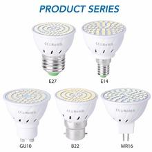 Żarówka wymienna LED reflektor dioda światło punktowe 220 V E27 MR16 B22 5 W 7 W 9W tanie tanio WENNI CN (pochodzenie) Natura biały (3500-5500 k) 2835SMD LED Spotlight Bulb Bedroom 220V 500-999 Lumenów Globe 50000hours