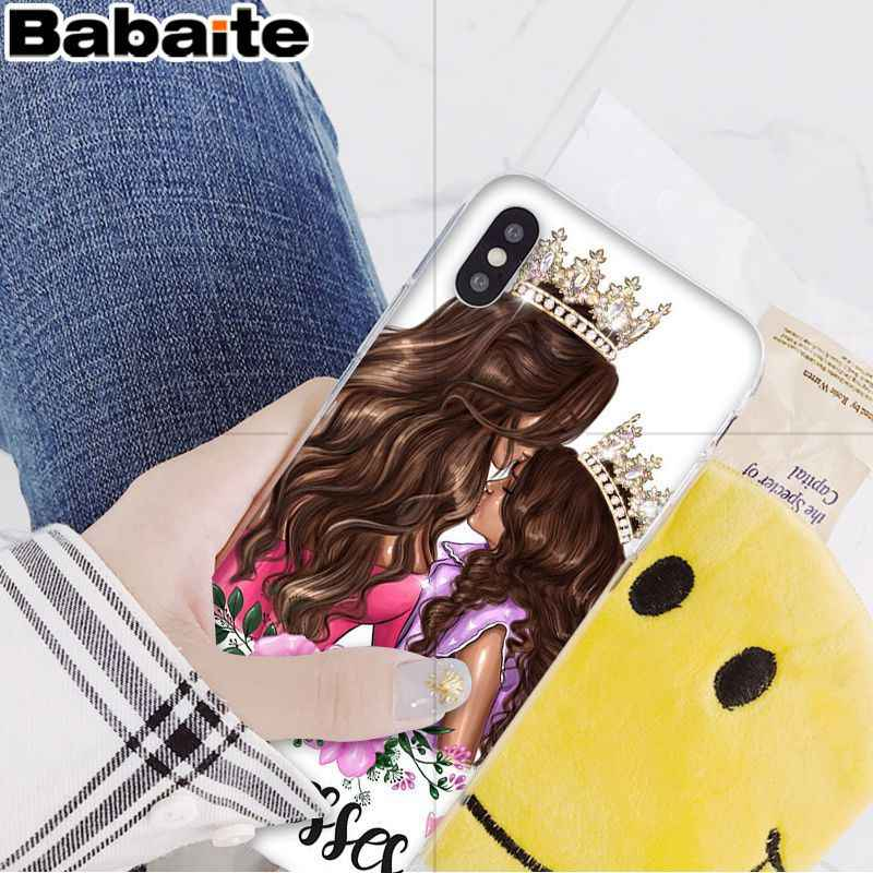 Babaite חום שיער אופנה אמא תינוק חכם כיסוי רך פגז טלפון מקרה עבור iPhone 8 7 6 6S בתוספת 5 5S SE XR X XS מקס Coque פגז