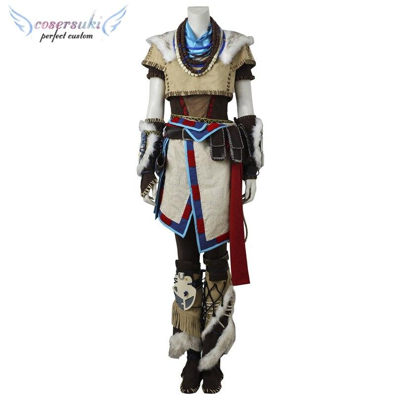 Horizon: Aloy Zero Alba Cosplay Costumi di Scena Prestazioni Vestiti, perfetto Su Misura per Te!