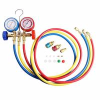 For R134A R12 R22 R502 Air Refrigerants Conditioning Tool AC Diagnostic Manifold Freon Gauge Set Car Accessories