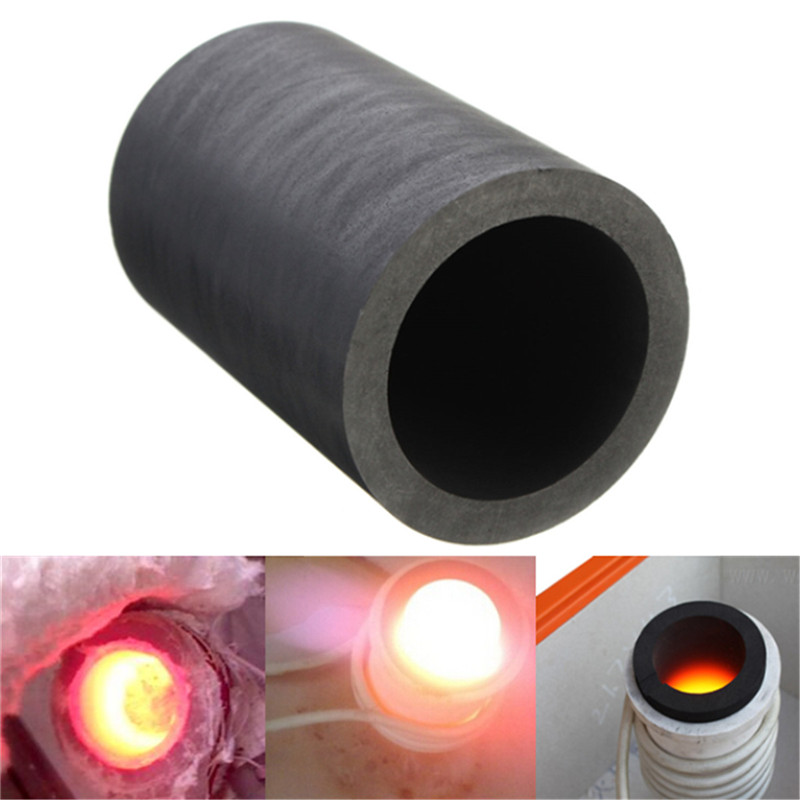 40 X 60mm 25oz Pure Graphite Crucible Cup Propane Torch Melting Gold Silver Copper Resist Compression More Than 70 Mpa