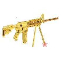 Microworld 3D Metal Puzzle 21CM M4A8 Carbine Gun Weapon Model G001 DIY 3D Laser Cut Jigsaw