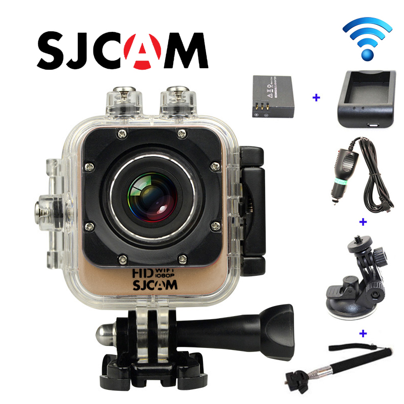 Free Shipping!!Original SJCAM M10 WiFi Mini Action Camera+Extra 1pcs battery+Battery Charger+Car Charger+Holder+The monopod free shipping original sjcam sj5000 sport action camerar car charger holder monopod extra 1pcs battery battery charge for camera