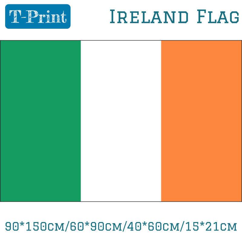 90*150 cm/60*90 cm/40*60 cm/15*21 cm Ierland nationale Vlag Polyester Ierse 3x5FT Banner Voor Wk Nationale Dag Olympische Games
