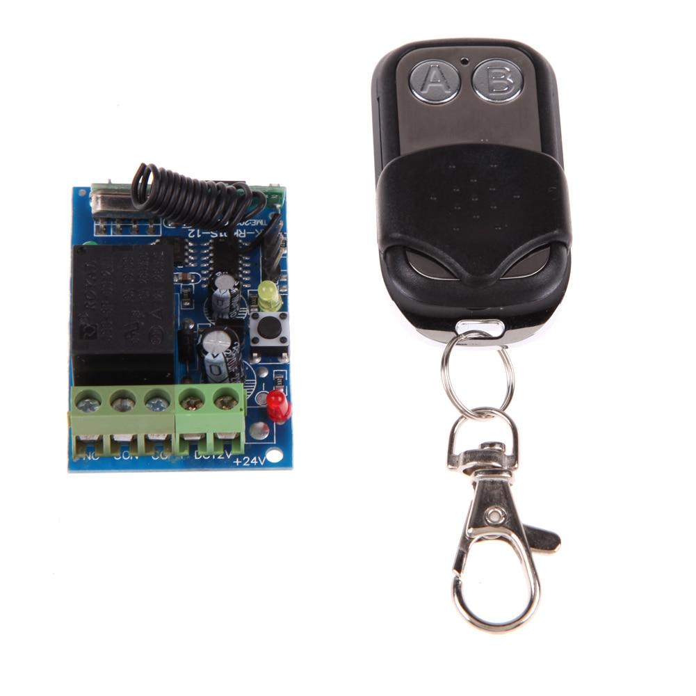 Black Practical DC12V 315/433MHz Remote Control Switch Wireless Remote Control Controle Remoto uzaktan kumanda
