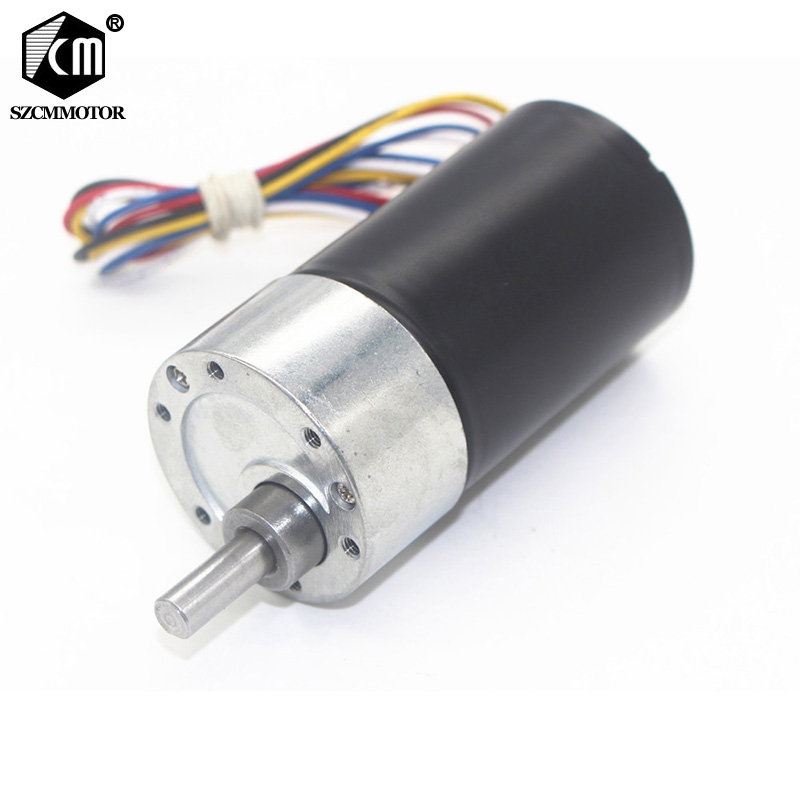 37mm diâmetro caixa de engrenagens poderoso micro longa vida alta torque dc12v 24 v sem escova motor da engrenagem silencioso bldc engrenado motor JGB37-3650