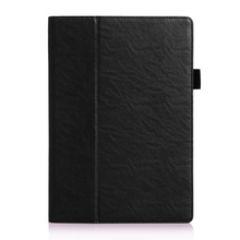Smart Card for Lenovo TAB 2 A 10-70 Leather Cases Holder Leather Case for Lenovo TAB 2 A10-70 with Elastic Band – Black