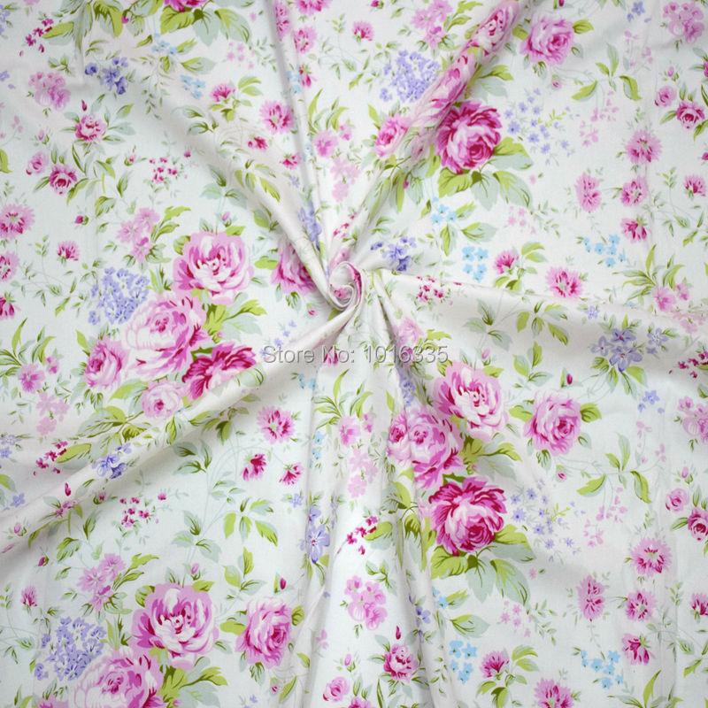 ̿̿̿(•̪ )2016 Rosa rosa impreso 100% tela de algodón tecidos algodao ...