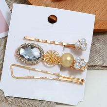 JAYCOSIN 3PCS Women Hairgrips Beautiful Hair Clip Hair Claw Ladies Chic Barrette With Pearl Girls Women Head Accessories May12(China)