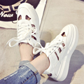 New summer 2017 platform sandals female hollow out color matching breathable student movement leisure sandals shoes