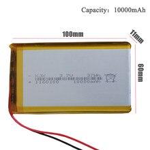 Batterie Lithium polymère Rechargeable, 1160100 V, 3.7 mAh, pour tablette PC, batterie externe, MP4,GPS, Remplacement