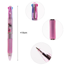 3 Colors In 1 Press Ballpoint Pen 0.7mm Classic Office School Accessories Pen Stationery Escolar Material(China)