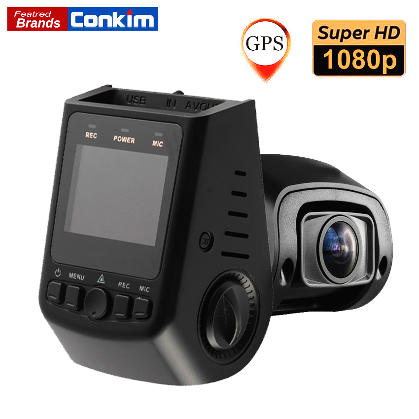 Conkim Novatek Chip Car DVR Dash Cam Camera GPS 1080P Full HD 135 Degree Angle Super Capacitor Car Digital Camera Pro B40S/B40C