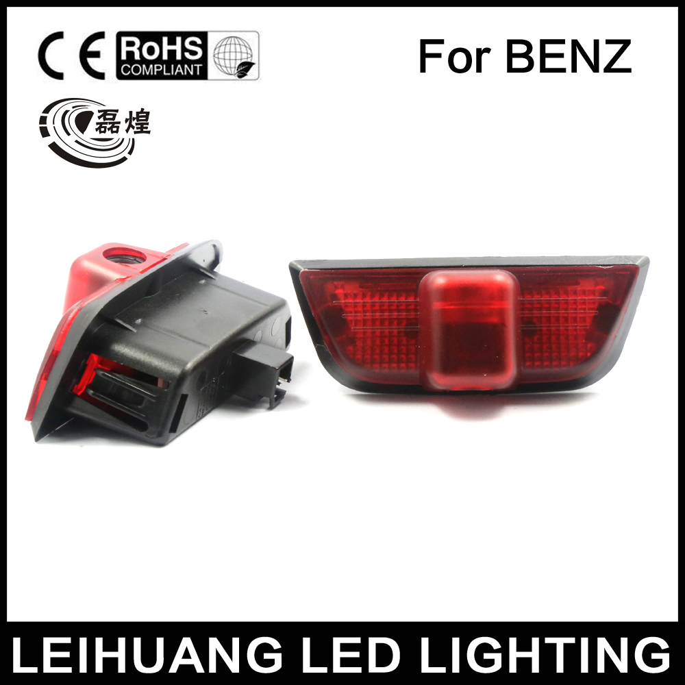2x LED Door Step Courtesy Ghost  Shadow Laser Light Fit For Mercedes C-Class W204 08-14 C180 C200 C250 C300 C350