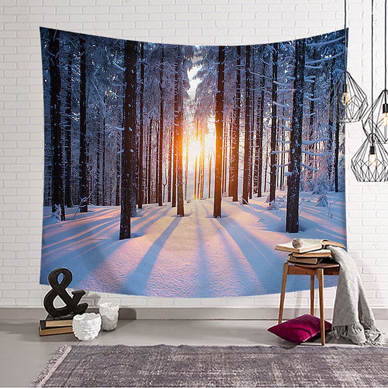 Scenery Painting Polyester Printed Hanging Wall Tapestry