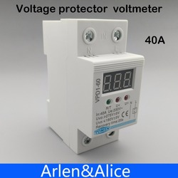 40a 220v automatic reconnect over voltage and under voltage protection protective device relay with voltmeter voltage.jpg 250x250
