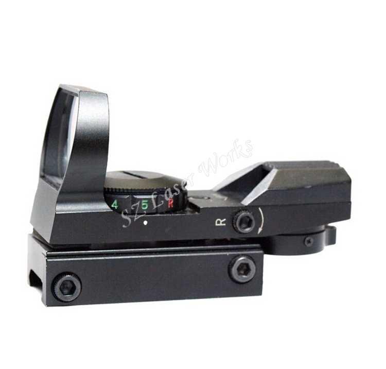 Óptica táctica 1x22, punto rojo y verde, mira réflex abierta, 4 tipos de mira telescópica para pistola Airsoft Weaver 11mm/22mm, pistola airsoft