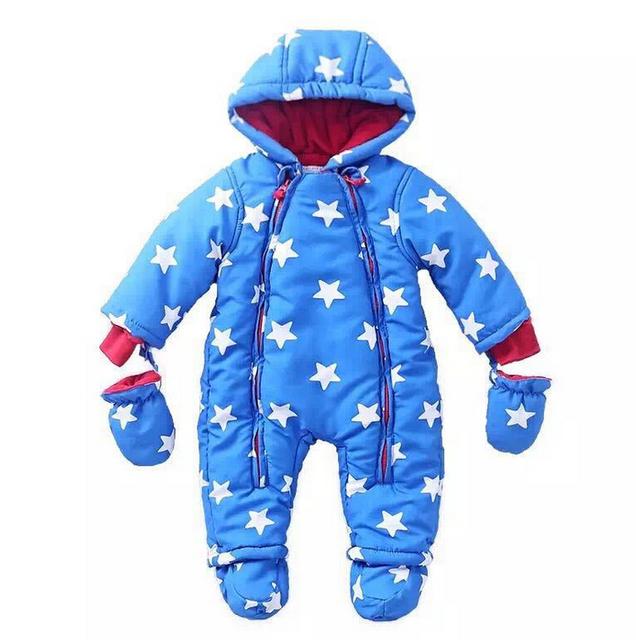 Novo 2016, roupas de inverno, romper do bebê, roupa quente, recém nascido, bebê geral, bebê da menina do menino macacão, 6-24 M