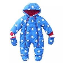 Новый 2016 зимняя одежда, ребенка ползунки, теплая одежда, новорожденный, ребенок, мальчик девочка комбинезон, 6-24 М