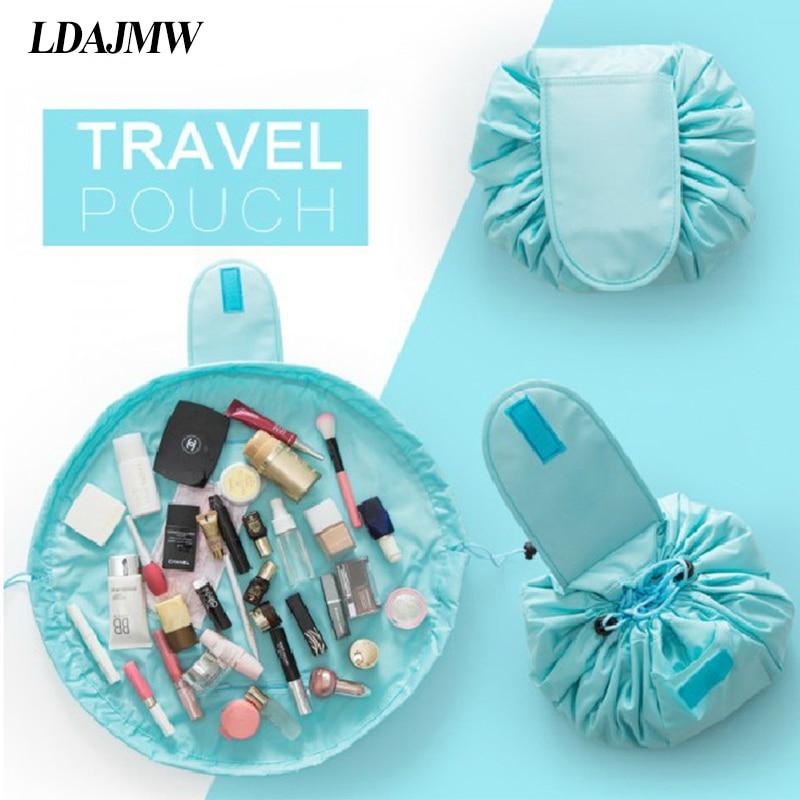 212d3e7af27f US $5.27 40% OFF|LDAJMW 48x48cm Portable Waterproof Lazy Cosmetic Bag  Drawstring Finishing Travel Storage Bag Makeup Organizer Wash Bag-in  Storage ...
