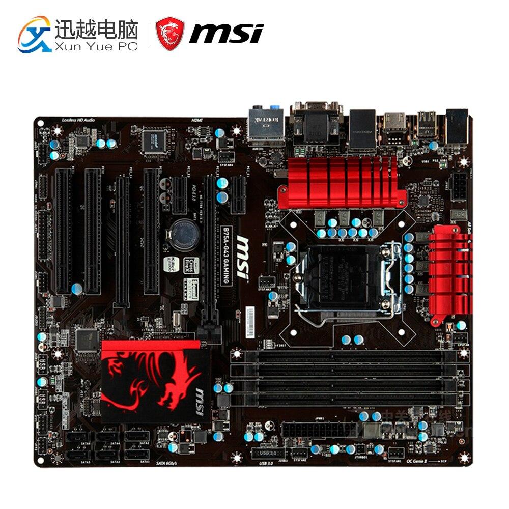 все цены на MSI B75A-G43 GAMING Desktop Motherboard B75 Socket LGA 1155 i3 i5 i7 DDR3 32G SATA3 USB3.0 ATX онлайн