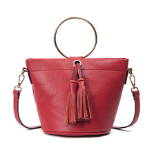 Nueva Moda de Lujo Diseñador de la Marca Bolsos de Las Mujeres Bucket Patrón Sólido Bolsos de Mano de Cuero Grandes Bolsas de Hombro Para Las Mujeres Bolsos de Las Señoras