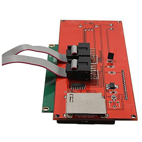 2004 LCD Smart Display Controller Module with Adapter for 3D Printer Controller RAMPS 1.4 Arduino Mega Red