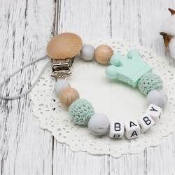 DIY силиконовые индивидуальное имя Клипсы для соски, забавные соски цепи с мышь держатель для ребенка, Baby Shower подарок BPA бесплатно