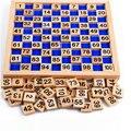 1-100 Digital Wooden Board Montessori Kid Educational Math Toy Teaching Aids