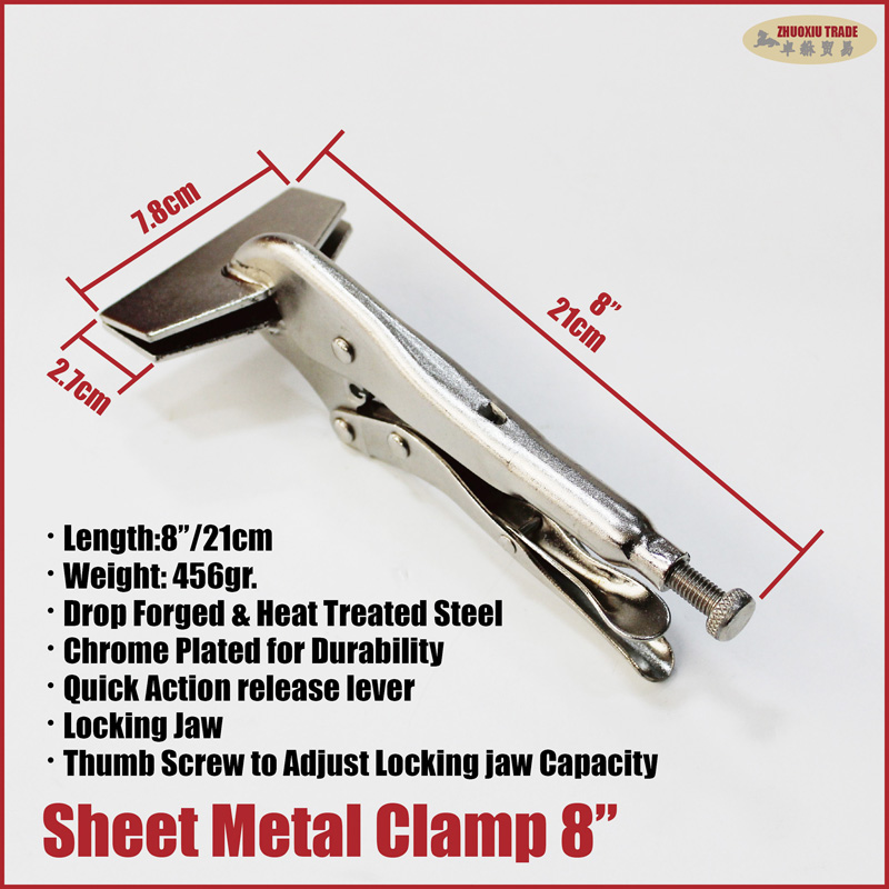 "New 8/"" Sheet Metal Welding Clamp Pliers Quick-Action Release"