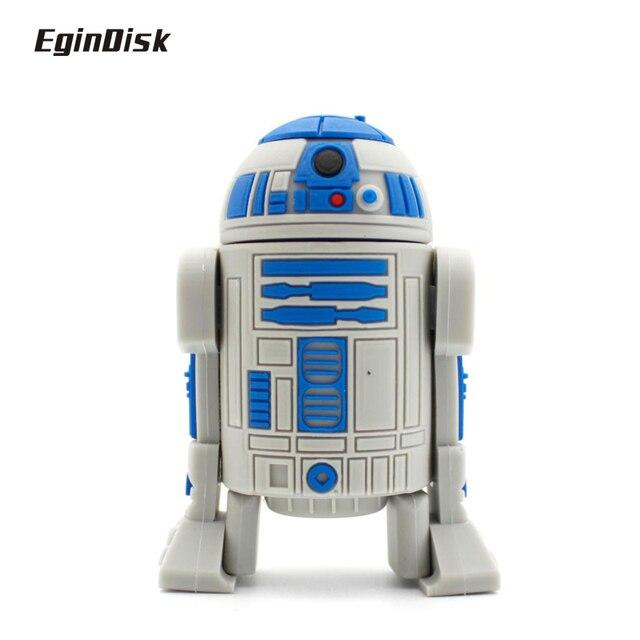 Star Wars R2d2 Pen Drive Catoon Doll Real Capacity  PenDrive Anime Usb Flash Drive 8gb 16gb 32gb Disk On Key