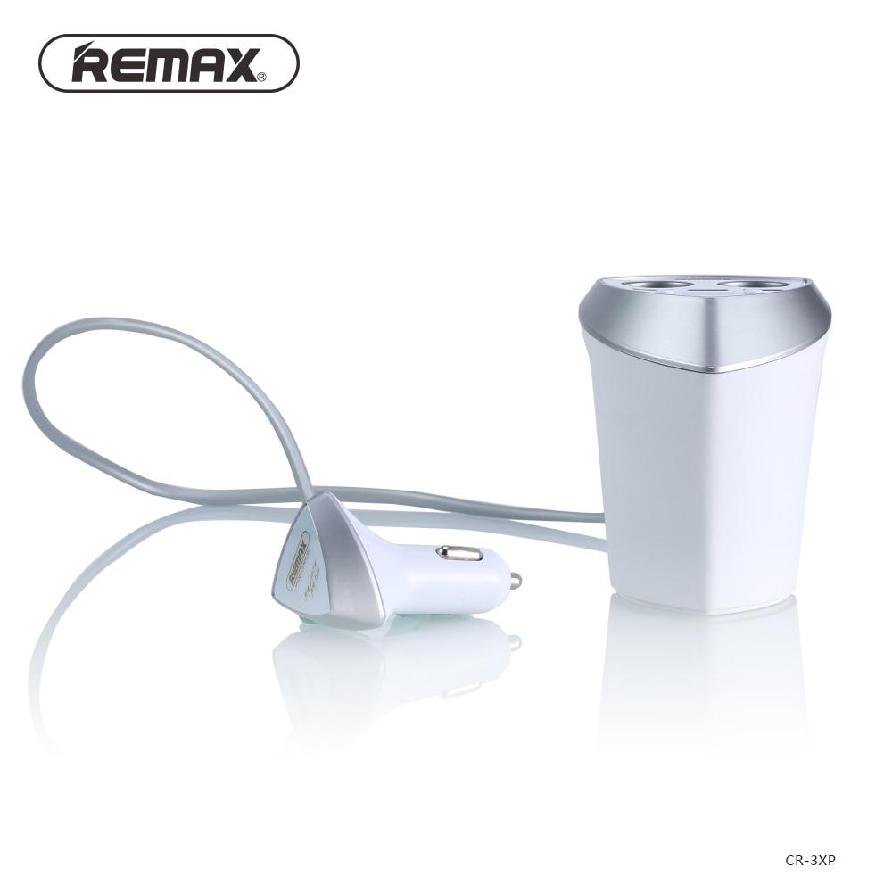 Remax asli 3.4A Charger Mobil Pintar & Adaptor Pemantik Rokok dengan - Aksesori dan suku cadang ponsel - Foto 3